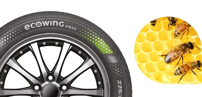 ecowing renkaan kuviointi on saanut inspiraation luonnosta