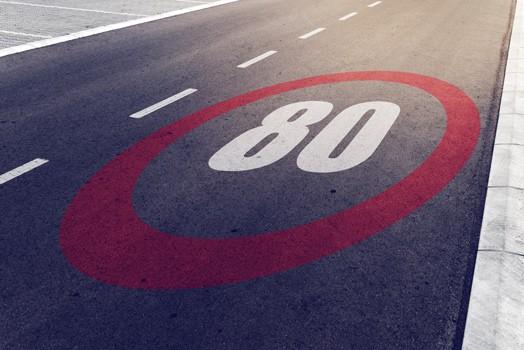 nopeus 80 kilometriä tunnissa